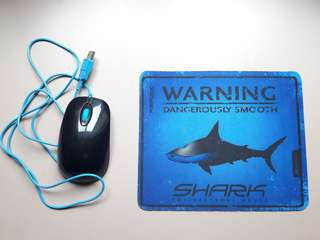 Wired Shark Mouse + Mousepad