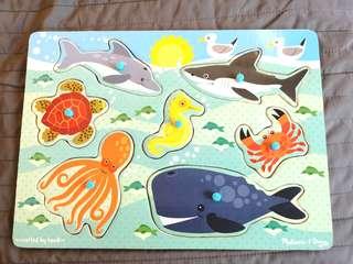 Melissa & Doug Puzzle - Sea Creatures