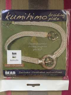 Kumihimo braiding plate Bead Smith