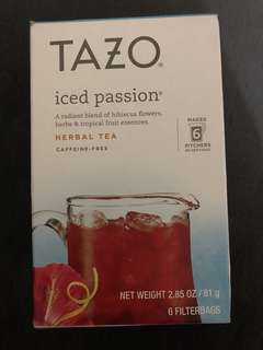Tazo iced passion herbal tea