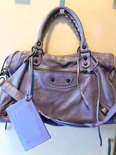 Balenciaga Lavender Classic City Leather Bag 巴黎世家薰衣草紫色機車包手袋