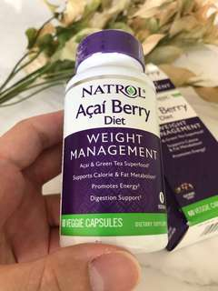 🚚 Natrol Acai Berry 60 Veggie Capsules