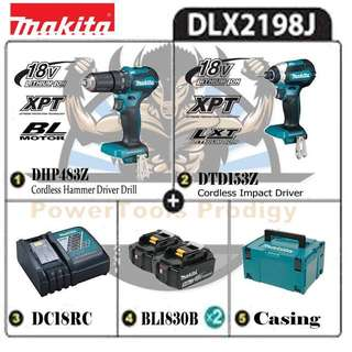[NEW] MAKITA 18V DLX2198J COMBO KIT