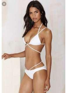 Nasty Gal white bikini set