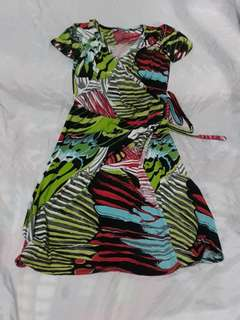 Overlap Dress - Printed