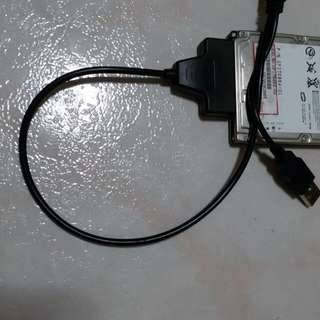 Selling a new piece of usb cable to connect any 2.5'' HDDs to yr desktops or laptops.