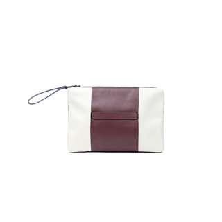 VALENTINO - 紅白真皮手提包