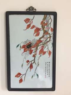 瓷畫:蟬鳴(如相片所示)