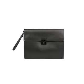 VALENTINO - 黑色真皮手提包