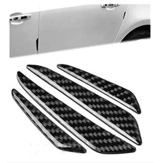 4 PCS Carbon Fiber Car Side Door Edge Protection Guards Trims Stickers