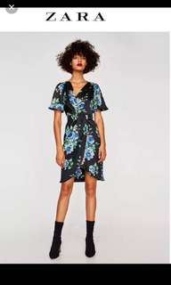 BNWT Zara Silk Floral dress