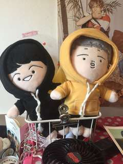 Bts fansite doll Rapmon cafe suga and rapmon
