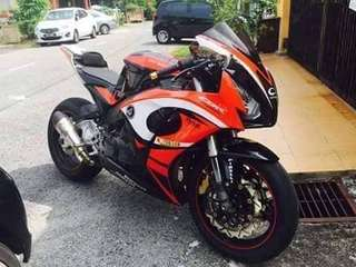 Cbr 954 convert to Rabbit 🇸🇬 Singapore Bike . Condition Very2 Good‼️ Buy & Ride . Cash only: RM 14k
