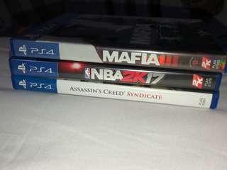 PS4 NBA 2K17 / MAFIA 3 / ASSASSIN'S CREED SYNDICATE