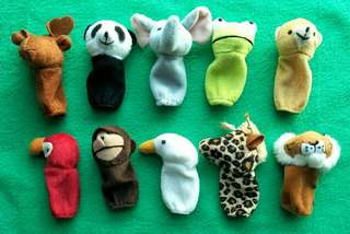 Animal Finger Puppet, 10 pieces