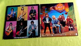 NICK LOWE . pure pop for now people ● NIGHT RANGER . the big life. ( buy 1 get 1 free )  vinyl record
