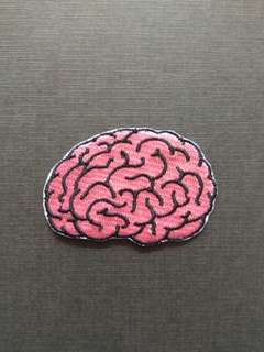 Brain Horror Mad Science Morbid Iron On Patch