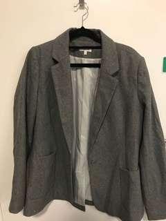 Women gray blazer size 8-10