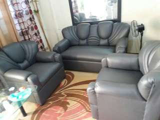 3 pc Quality rubberized leather SOFA