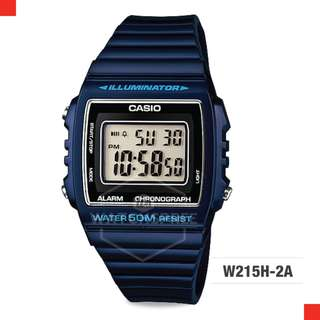 FREE DELIVERY *CASIO GENUINE* [W215H-2A] 100% Authentic with 1 Year Warranty! W-215H2A W-215H-2A W215H2A