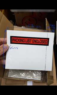 🚚 Packing List holder with self-adhesive back