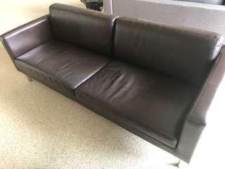 2.5 seater brown sofa