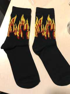 Women flame socks