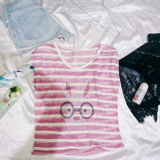 RABBIT STRIP PINK