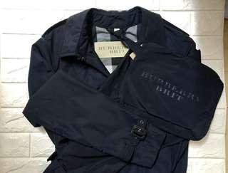 全新 Men Classic Burberry Jacket 深籃色男裝 乾濕䄛 (Size M)