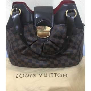 Authentic LOUIS VUITTON Damier Canvas Sistina GM Bag