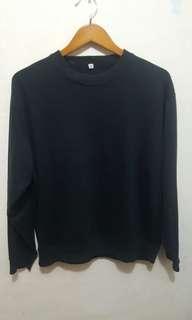 Jaket sweter uniqlo size xl hitam ori