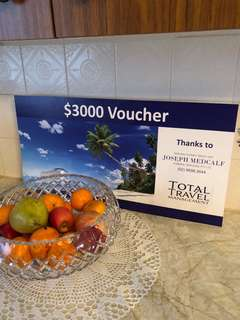 Total Travel Management $3000 VOUCHER