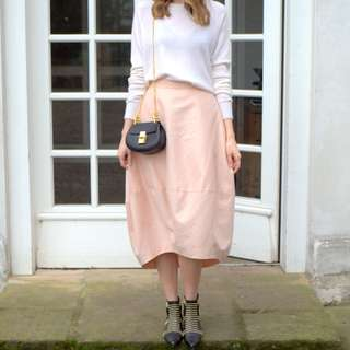 Cos Cocoon Blush Pink / Peach Skirt