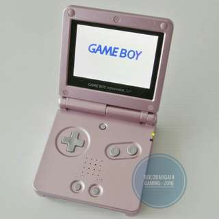 🚚 Authentic NINTENDO AGS-101 Gameboy Advance SP Game Console Metallic Blue