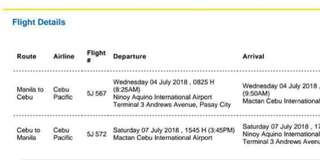 MANILA - CEBU 2 ADULT TICKETS
