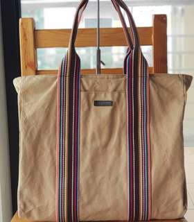 Authentic Paul Smith Large Zippered Canvas Tote