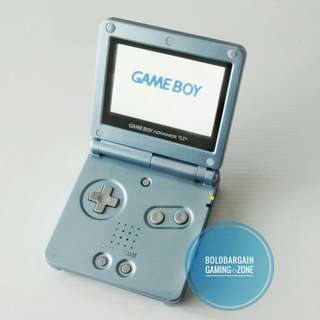 Authentic NINTENDO AGS-101 Gameboy Advance SP Game Console Metallic Blue