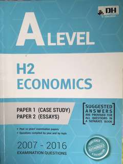 A Level H2 Economics yearly/topical