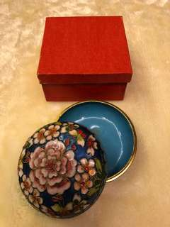 Cloisonne Round Container