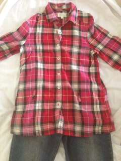 SEED red chequered top