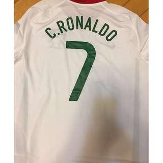 C 朗 葡萄牙 球衣 Portugal Team C RONADLO Jersey 全新 罕有