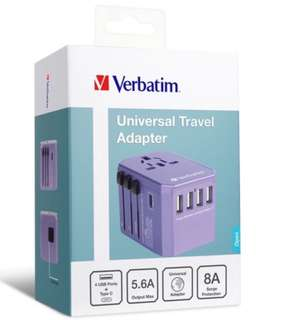 *limited edition* Verbatim Universal Travel adapter Purple