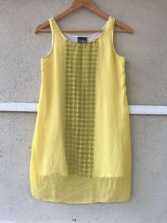 Sleeveless Yellow Top