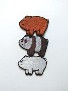 We Bare Bears Stack Mix Iron On Patch