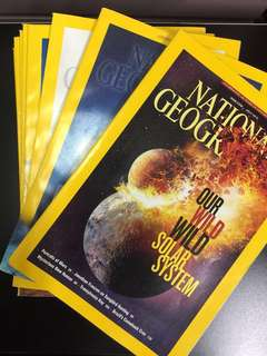 Past Year National Geographic Magazines