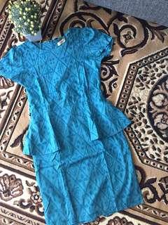 Dress batik BLF peplum