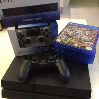 PS4黑 型號1207 500G主機內含光碟片