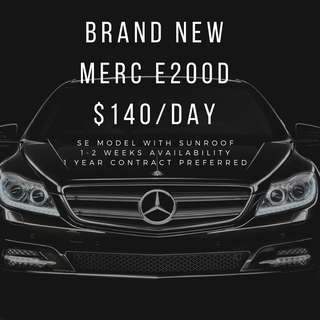 Merc E200d with Sunroof (brand new)
