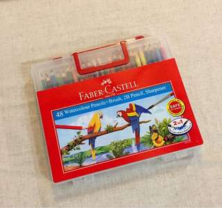 Faber Castell 48 Water Colour Pencils with Box