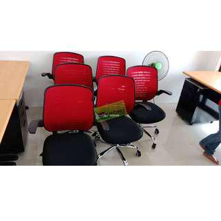 CNL-272 Mesh Chair_Color Red_Office Furniture-Partition